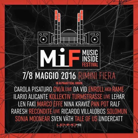 Svelata la Line-up del MIF 2016 di Rimini