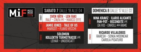 TimeTable del Mif di Rimini