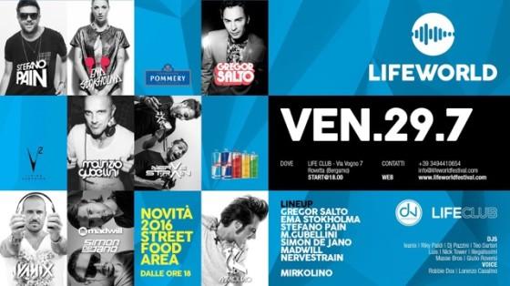 Questa sera Lifeworld a Rovetta (BG)