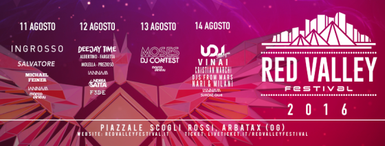 Ad Arbatax (OG) è Red Valley Festival 2016