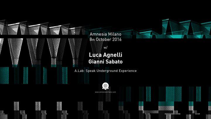 Luca Agnelli e Gianni Sabato, questa sera all'Amnesia di Milano