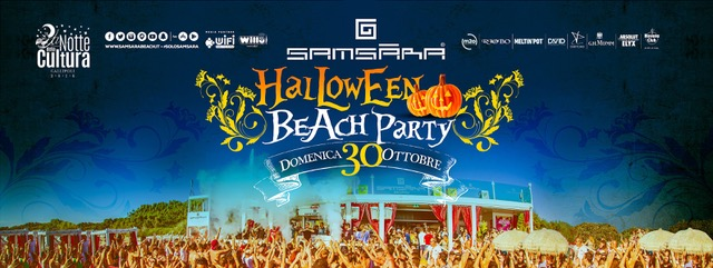 Originale Halloween in riva al mare, Domenica 30 Ottobre Beach Party al Samsara di Gallipoli (LE)