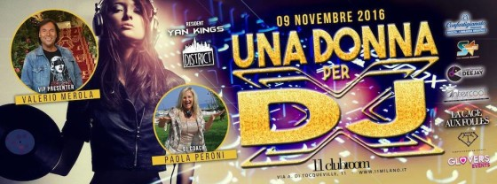 All'11clubroom – Milano, Una Donna per dj e vocalist