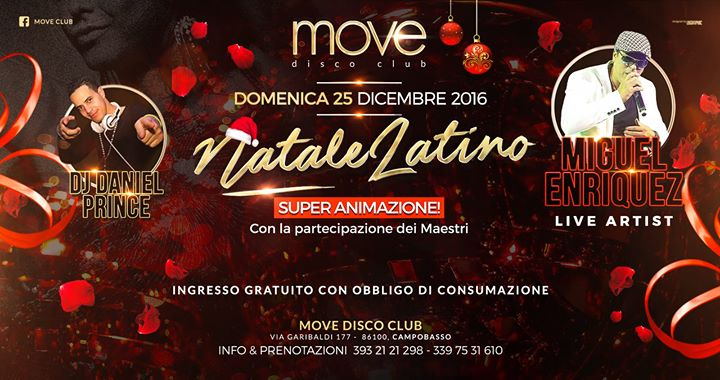 Natale In Latino.Move Club Natale Latino Miguel Enriquez Domenica 25