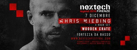 """A Firenze il NEXTECH diventa """"Legend"""" con Chris Liebing"""