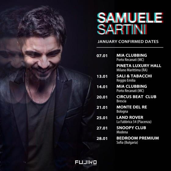 I prossimi dj set di Samuele Sartini