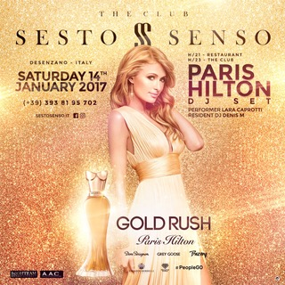 Paris Hilton alla console del Sesto Senso Desenzano (BS)