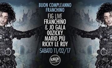 L'11 febbraio il compleanno di Franchino al Bolgia di Bergamo