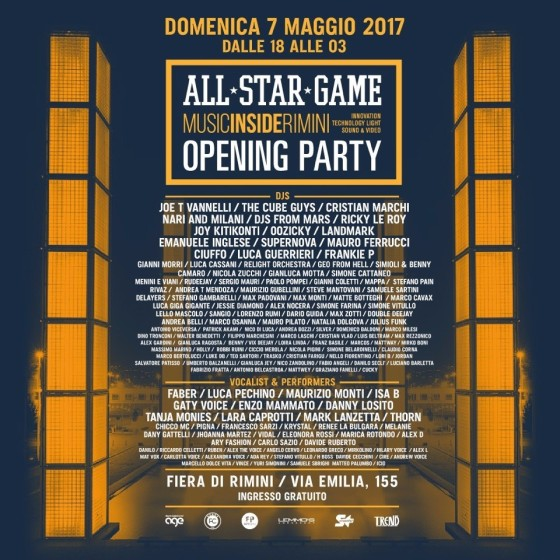 MIR 2017 Opening Party, una folla di dj