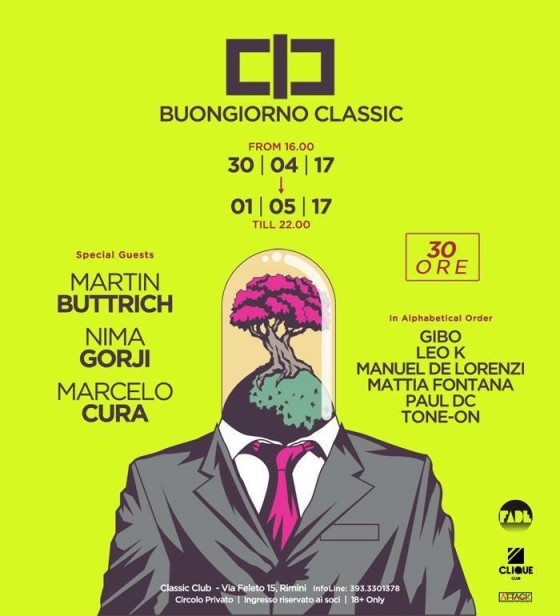 30 ore di musica no stop, al Classic Club di Rimini