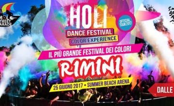Domenica 25 giugno, la Holi Dance Festival colora Rimini