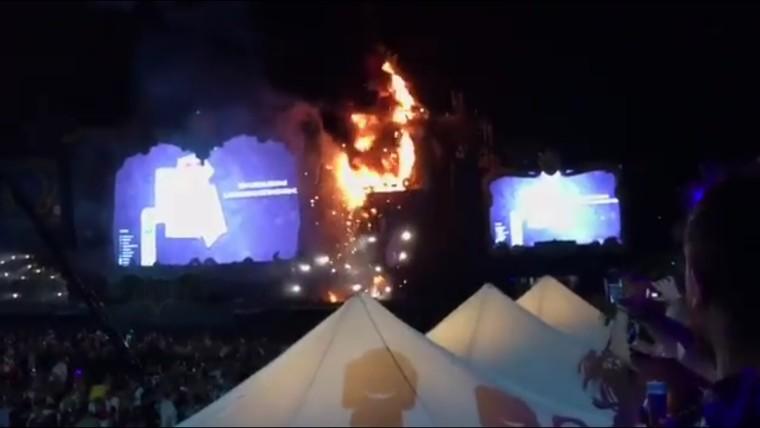 Incendio al Tomorrowland Unite Spain a Barcellona