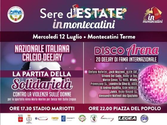 Oggi a Montecatini gioca e suona la Nazionale DJ