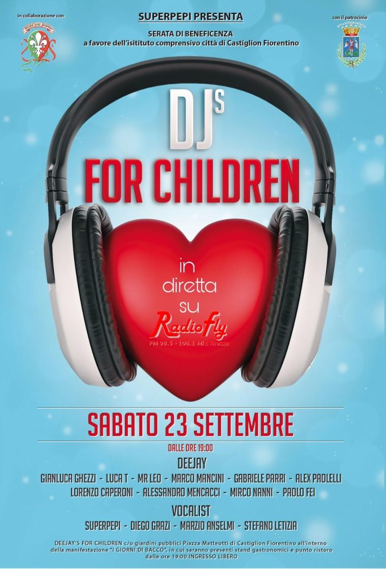 La settima edizione di Deejay's for children a Castiglion Fiorentino