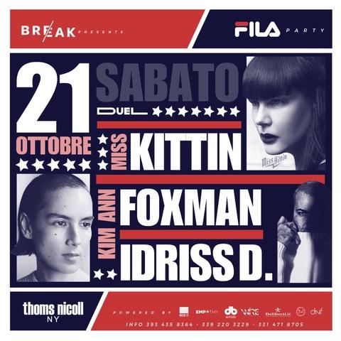 Miss Kittin, Kimm Ann Foxmann, Idriss D al Duel Club di Pozzuoli
