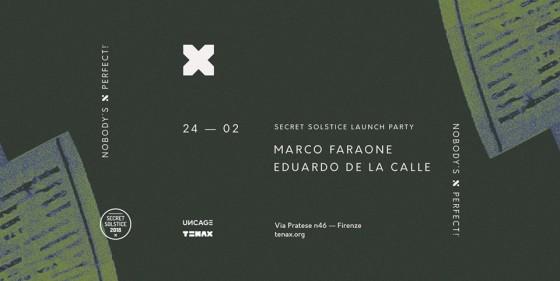 Marco Faraone  Eduardo De La Calle al Tenax di Firenze