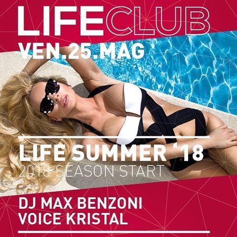 L'estate 2018 di Life Club di Bergamo, inizia il 25 maggio