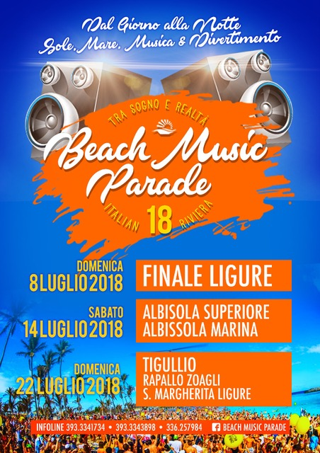 Ci si diverte in Liguria con Beach Music Parade