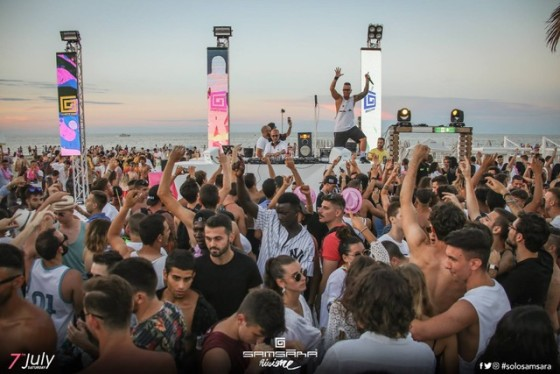 Samsara Beach – Riccione: 21/7 Shorty, 22/7 Albertino, 12/8 David Morales