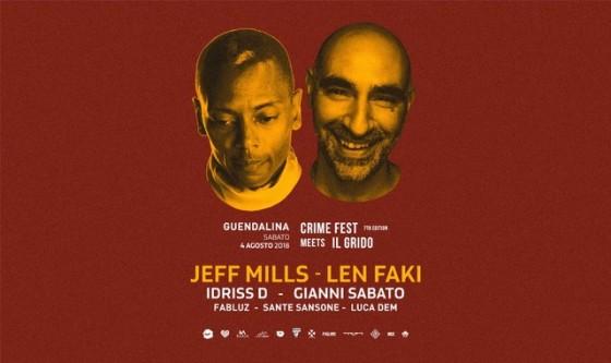 Jeff Mills e Len Faki in CrimeFest al Guendalina