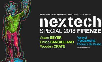 Nextech Special prenatalizio a Firenze con Adam Beyer, Enrico Sangiuliano, Wooden Crate