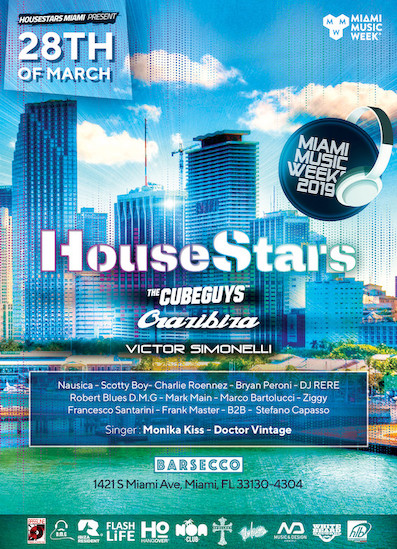La Miami Music Week al Barsecco con The Cube Guys, Crazibiza, Victor Simonelli