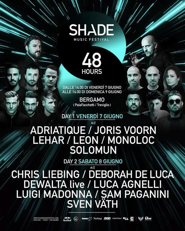 Shade Music Festival 2019 porta a Bergamo i protagonisti della scena elettronica mondiale