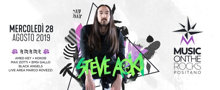 Torte a Positano con Steve Aoki al Music on the Rocks