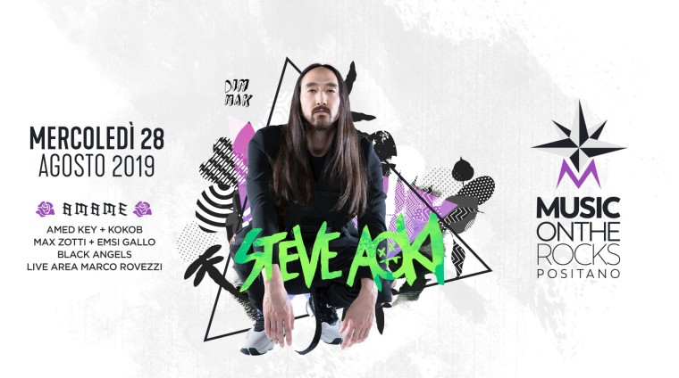 Torte a Positano con Steve Aoki al Music on the Rocks